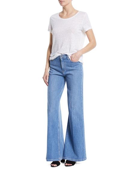 Sutton High-Rise Wide-Leg Jeans