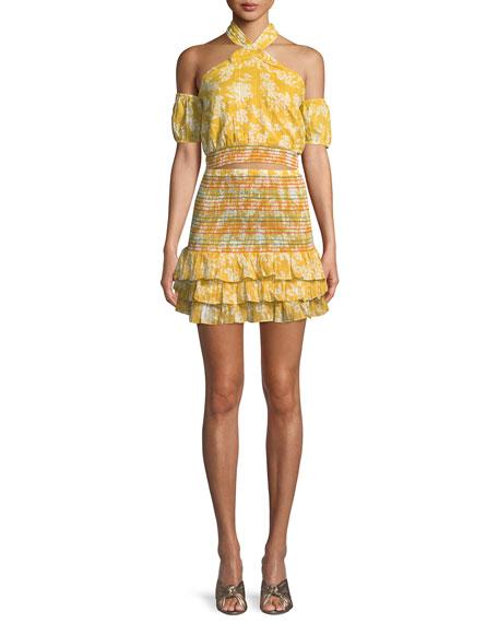 Drea Smocked Ruffle Mini Skirt