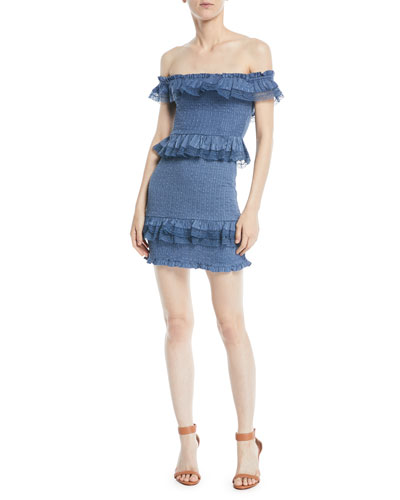 Teri Off-the-Shoulder Ruffle Mini Dress