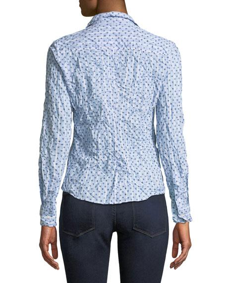 Barry Star-Print Striped Long-Sleeve Poplin Shirt