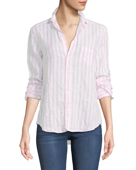 Frank & Eileen Eileen Striped Long-Sleeve Linen Shirt