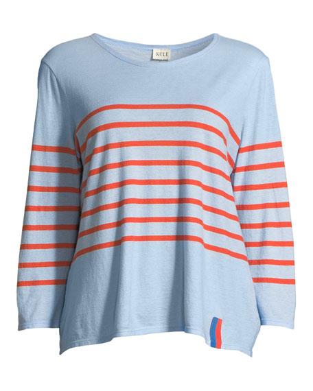 The Malibu Striped 3/4-Sleeve Top