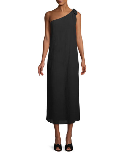 Camilla One-Shoulder Organic Cotton Maxi Dress
