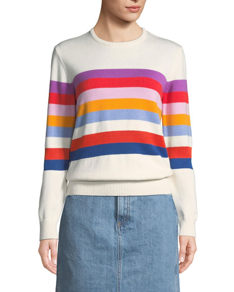 The Day Trip Striped Crewneck Sweater