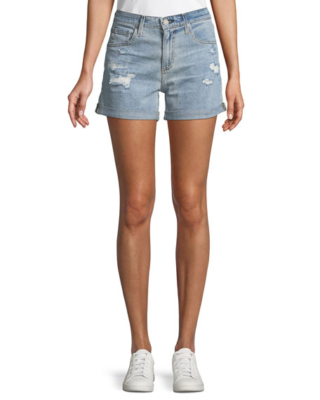Hailey Ex-Boyfriend Distressed Denim Shorts, 21 Yrs-Reflection Destructed
