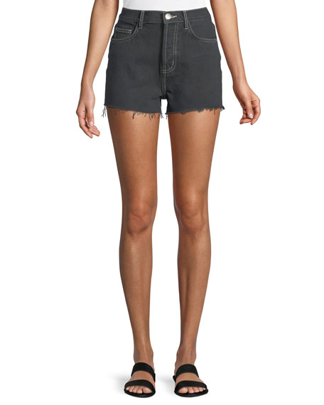 Current/Elliott The Ultra High-Waist Cutoff Shorts with Raw-Edge