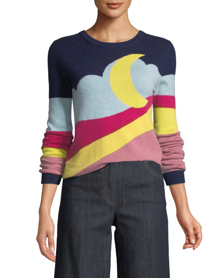 Boutique Moschino Moon-Print Pullover Sweater