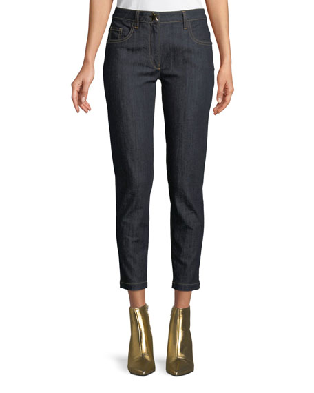 Straight-Leg Ankle Jeans