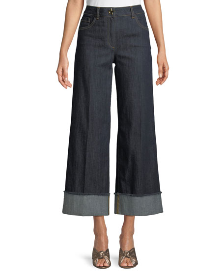 Boutique Moschino Wide-Leg Cropped Jeans