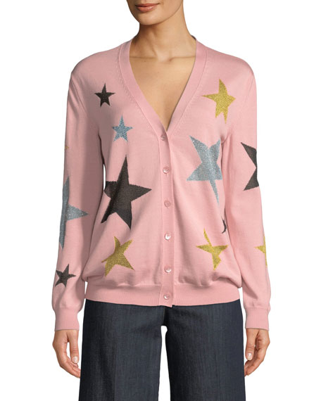 Boutique Moschino Star-Print Wool Cardigan