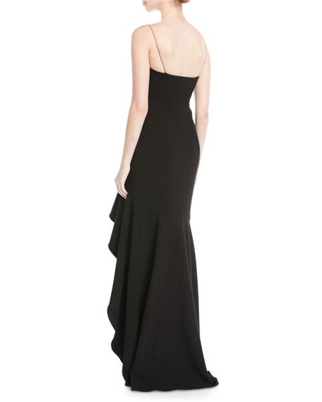 Vita Ruffle High-Low Slip Gown