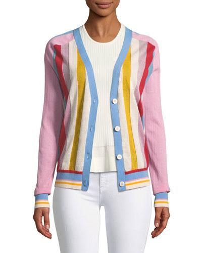 Long-Sleeve Colorblock Cardigan
