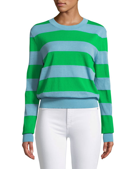 Long-Sleeve Colorblock Pullover Sweater