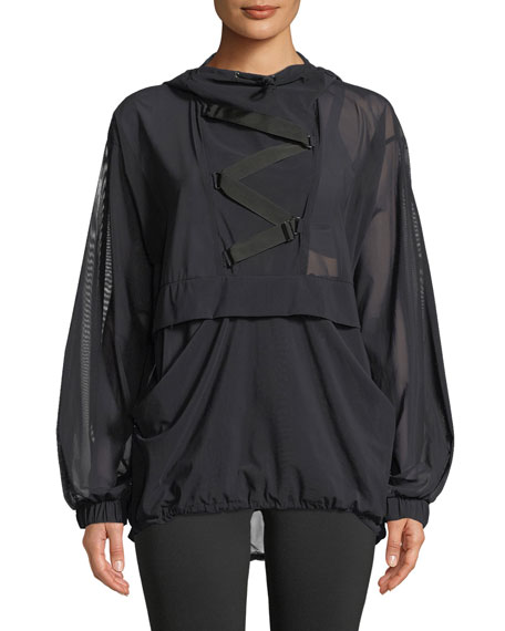 MICHI Switchback Pullover Jacket in Black