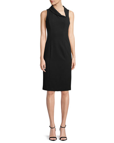 Blaze Sleeveless Asymmetric Sheath Dress
