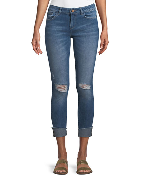 DL1961 Premium Denim Florence Mid-Rise Instasculpt Skinny Cropped