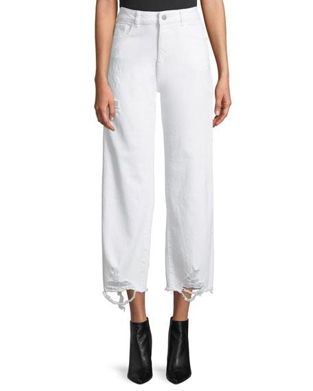 DL1961 Premium Denim Hepburn High-Rise Wide-Leg Jeans