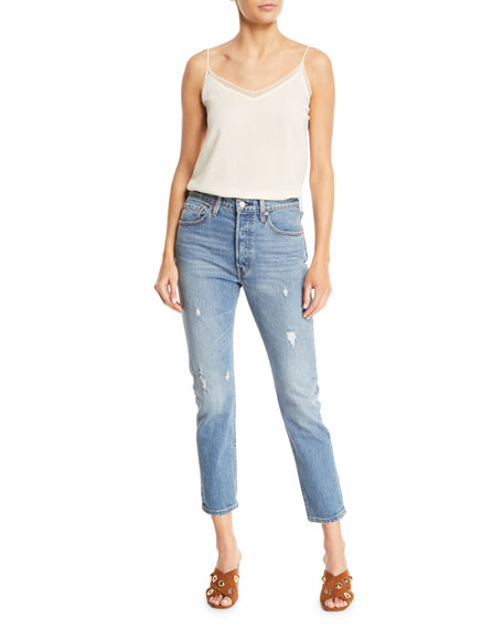 501 Leave A Trace Skinny Ankle Jeans