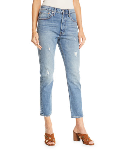 501 Leave A Trace Skinny-Leg Ankle Jeans