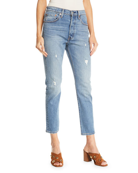 Levi's Premium 501 Leave A Trace Skinny-Leg Ankle