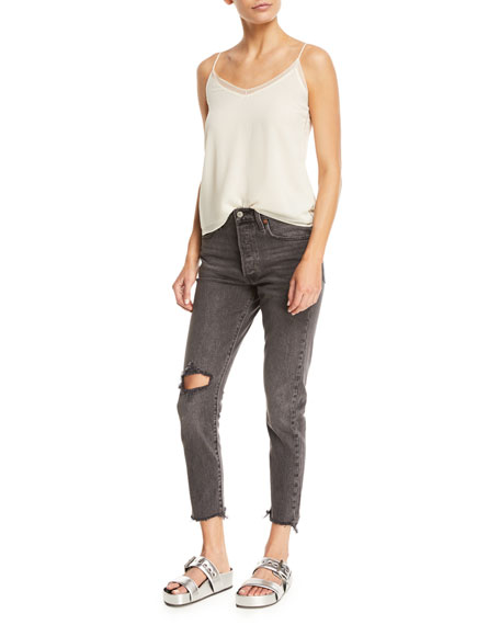501 Well Worn Skinny Cropped Jeans