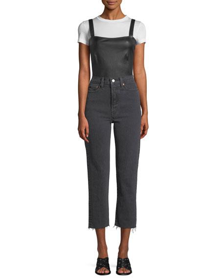 Wedgie That Girl High-Waist Straight-Leg Jeans w/ Raw Hem