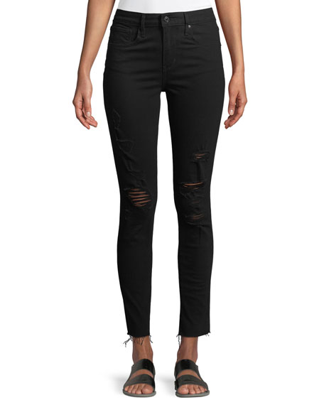 721 Atomic High-Rise Skinny Jeans w/ Raw-Edge Hem