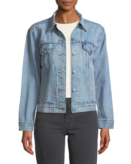 Levi's Premium Ex-Boyfriend Dream Of Life Denim Trucker