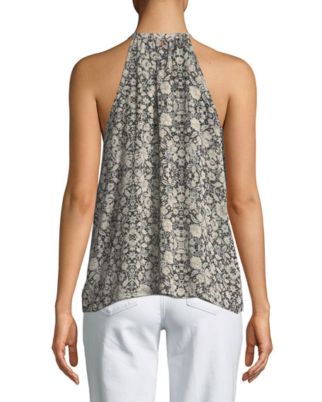 Charleen Printed Chiffon Camisole Top