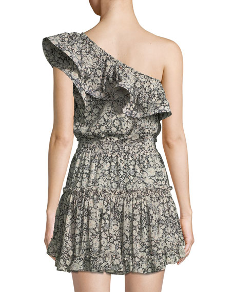 Josefine Printed One-Shoulder Mini Dress