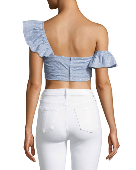 Sonya One-Shoulder Keyhole Bustier Crop Top