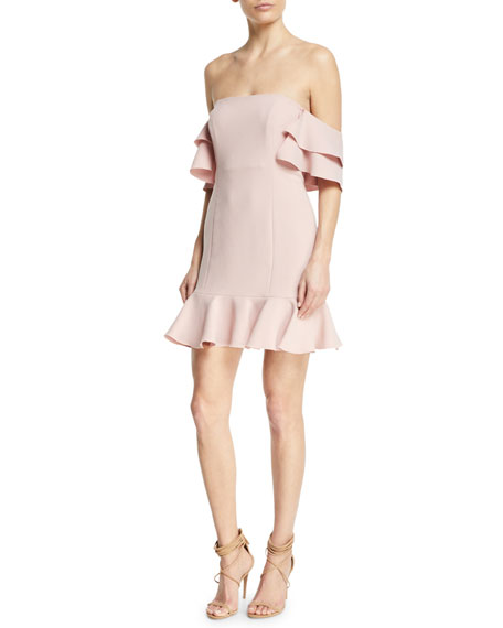 Tracy Off-the-Shoulder Flounce Mini Dress
