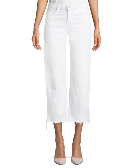 Wyatt High-Rise Wide-Leg Crop Jeans