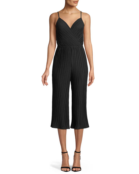 Cupcakes and Cashmere Austine Sleeveless Flare-Leg Jumpsuit