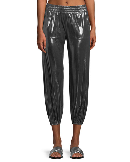 Boyfriend Metallic Jogger Pants