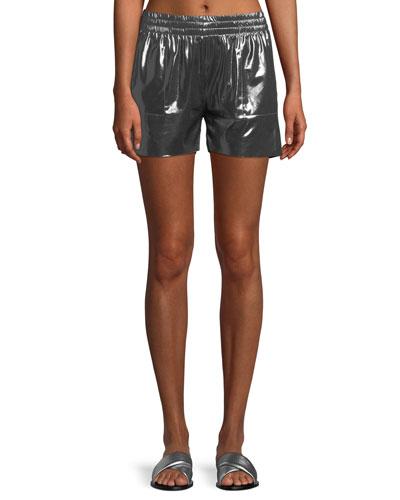 Boyfriend Metallic Athletic Shorts
