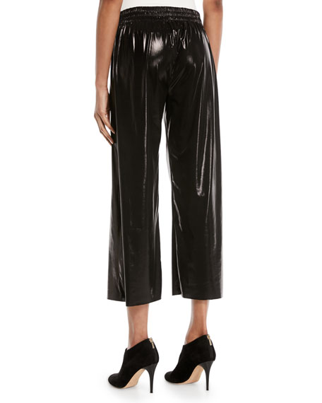 Cropped Boyfriend Metallic Sweatpants