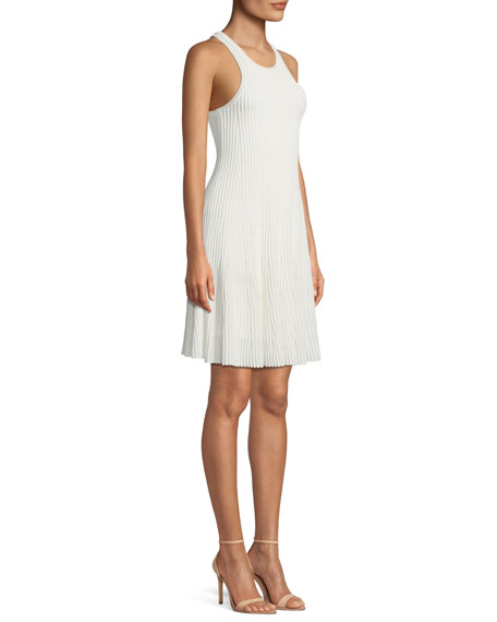 Clean Cotton Ottoman Knit Knee-Length Tank Dress