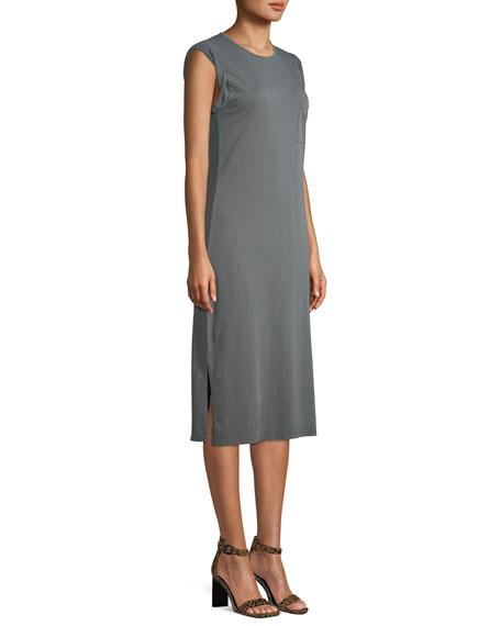 Relaxed Midi-Length Tee Dress