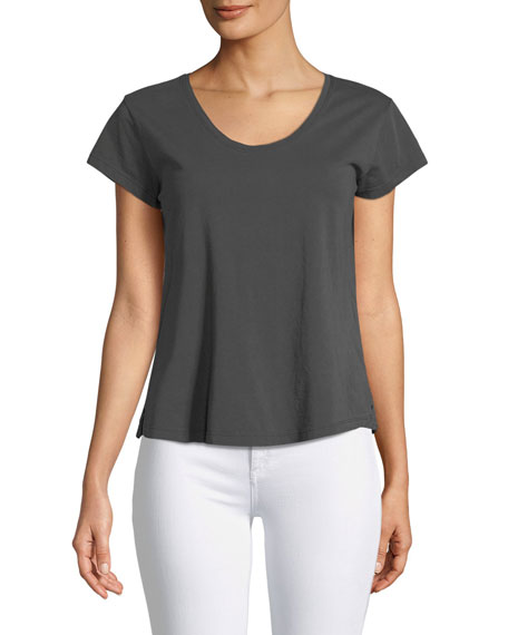 Easy Scoop-Neck Short-Sleeve Tee