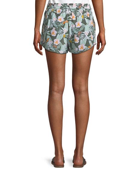 Sabia Floral Silk Drawstring Shorts