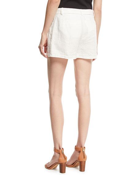 Jaklynn Pleated Linen Shorts