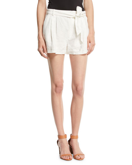 Joie Jaklynn Pleated Linen Shorts