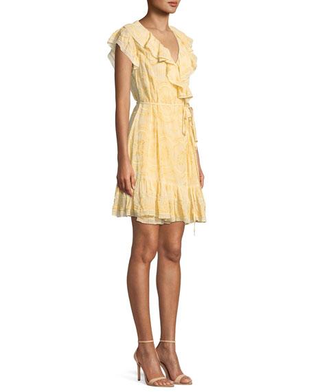 Anglaise Georgette Sleeveless Mini Wrap Dress