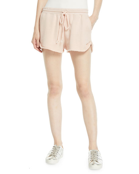 Eady Drawstring Raw-Edge Cotton Shorts