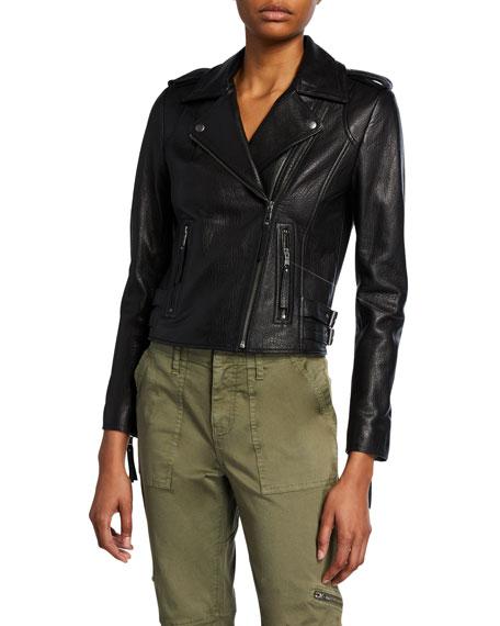 Leolani Lamb Leather Moto Jacket