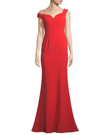 Aijek Off-the-Shoulder Mermaid Gown