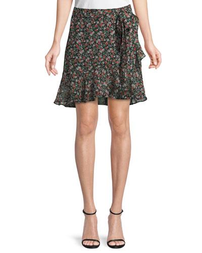 Alice Floral-Print A-Line Skirt
