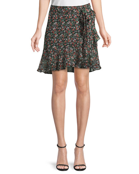 Alice Floral-Print A-Line Skirt