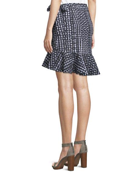 Alice Faux-Wrap Mini Skirt